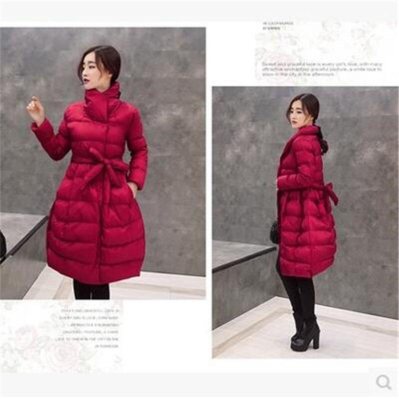 De Bn1582 Han black Manteaux Vêtements D'hiver Dans gray Wine Pour Haute Chaud Mode Édition Base Au Épaisse Long purple Garder Manteau Red Femmes Style Qualité AdfHqA