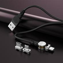 5V / 9V/ 12V 2.4A High Quality TPE 3-In-1 Magnetic Data Cable Type-c Android 180 Elbow Charging  2019 Newest