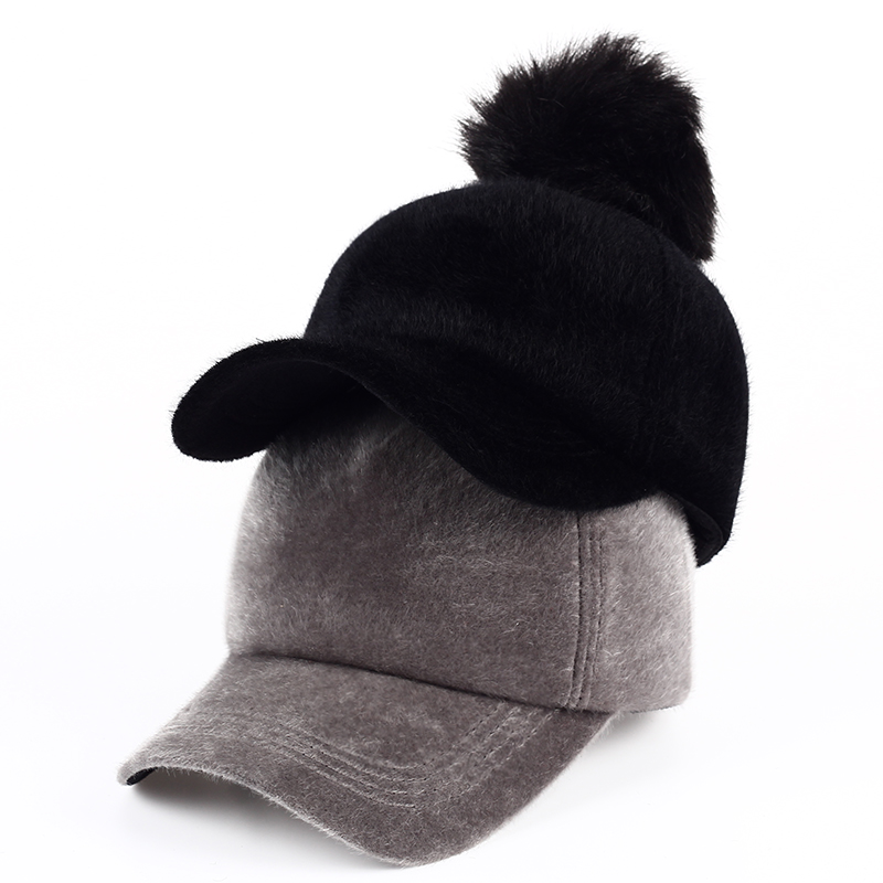 VORON Women Winter Warm Faux Mink Fur Baseball Cap Female Thick Thermal Hats for Girl Caps with Pompon Adjuable Cap Women Autumn выключатель legrand 1 клавишный сп kaptika 10a