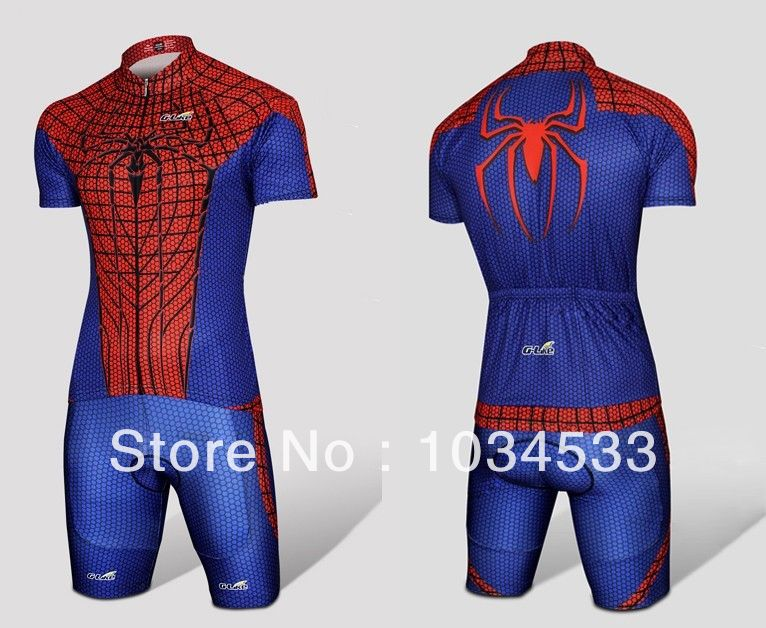 7a2ad1014 2015 Spider Man Black Venom Iron Man Batman Superman Captain America  Costume Cycling Kit Bicycle Suit Short Jersey+Short-in Cycling Jerseys from  Sports ...