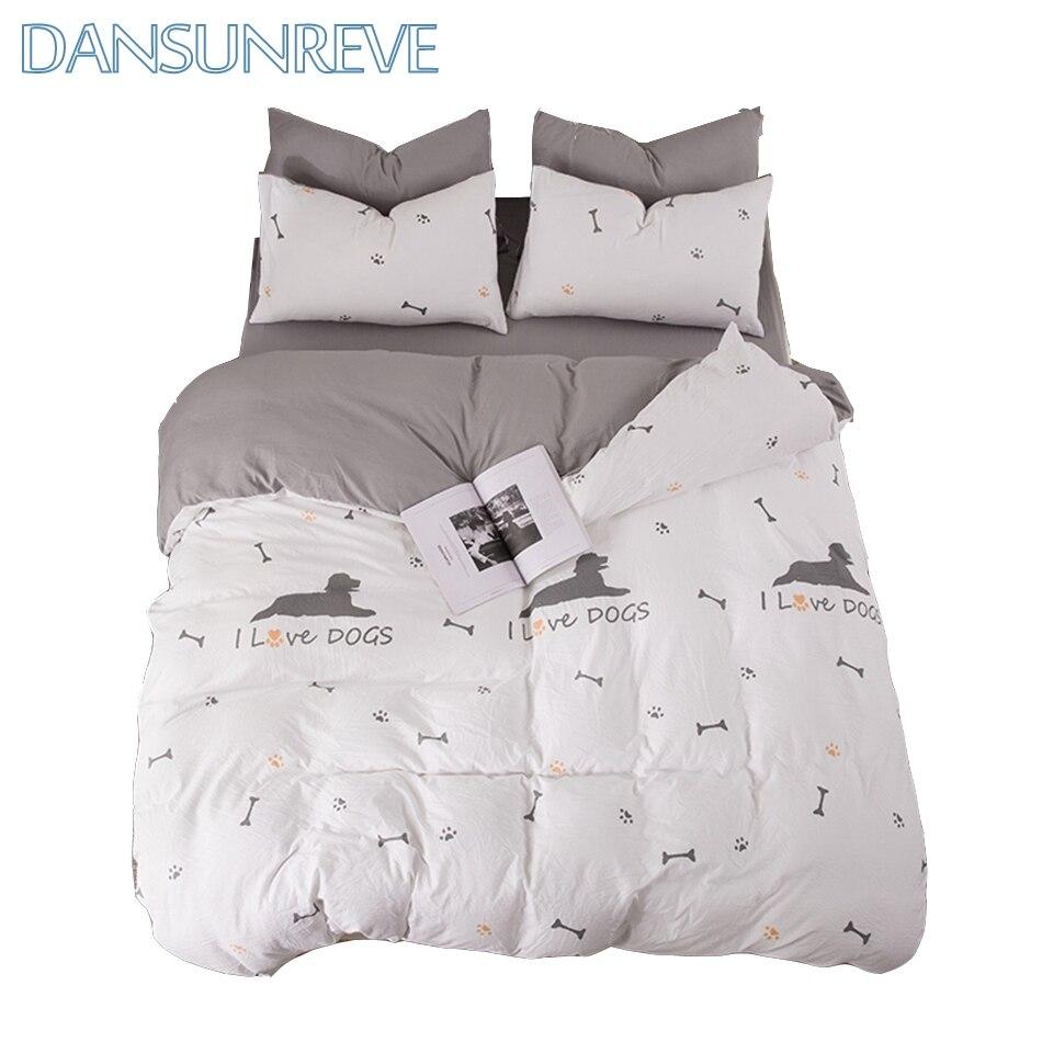 Dog Print Bedding Animal Bedding Bed Cover on Sale Dog Duvet Dog Printed Bed Set Sheet Set King Twin-Bedding Gray Pillow Cover
