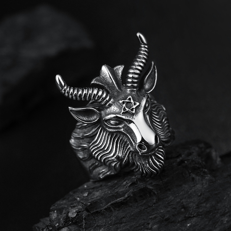 Goat Ring Goat Head Ring