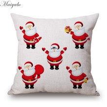 Maiyubo funda de almohada navideña con diseño de Feliz Año Nuevo, funda de almohada clásica, cojín económico, venta al por mayor, PC315