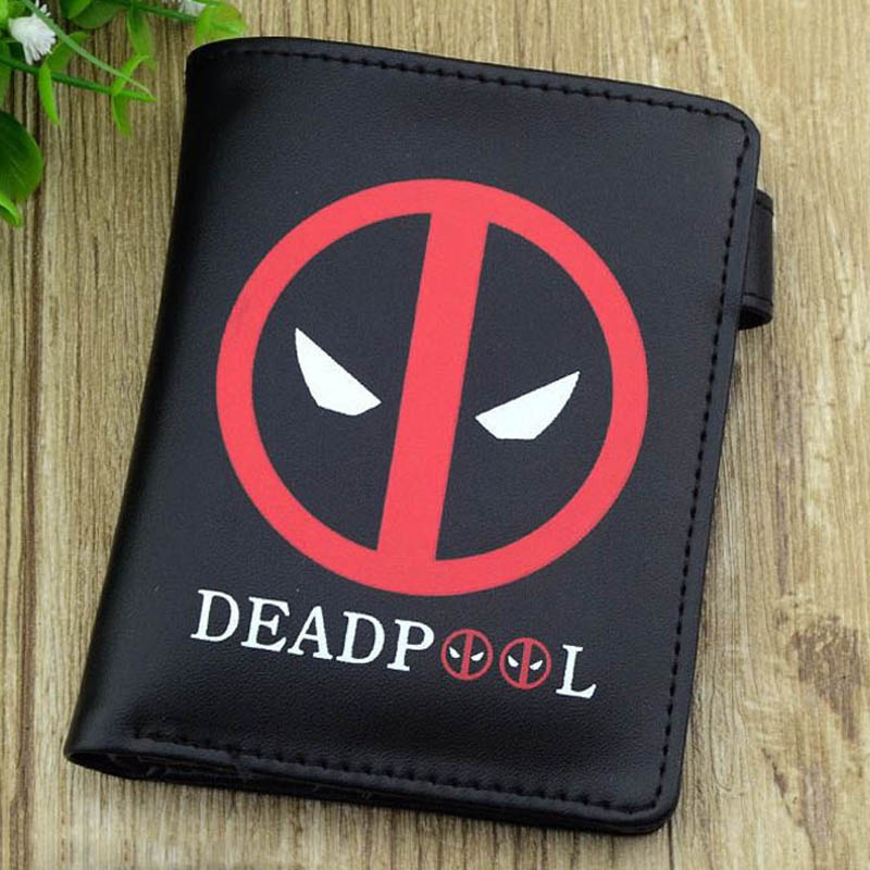 New men wallets Marvel Avengers Captain America/Hulk/Deadpool/Pokemon pikachu purses& wallets hasp(China)