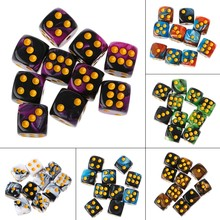 10pcs Six Sided 12mm Acrylic Transparent Cube Round Corner Portable Table Playing Games Drinking Dice(China)