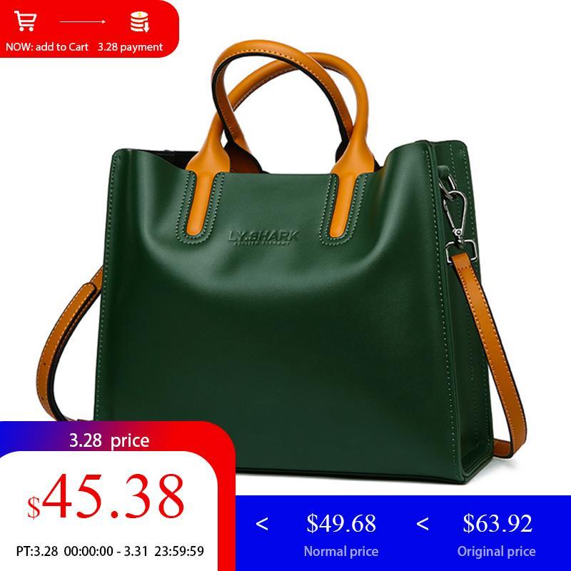 433440c05 TUBARÃO bolsas femininas bolsas de marcas famosas 2018 Grande Saco Do  Mensageiro Das Mulheres Bolsa de Ombro Bolsa Feminina Senhoras Genuínas  Bolsas De ...