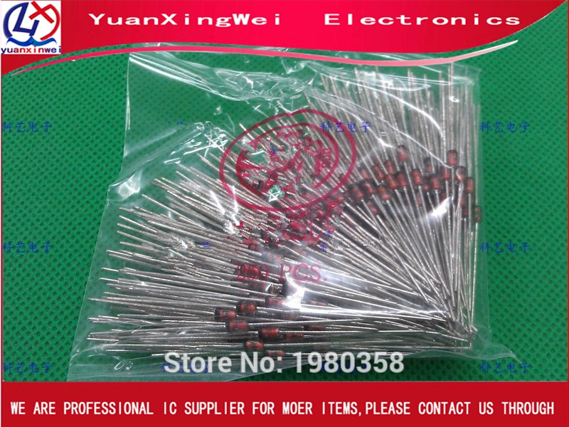 Free Shipping 100pcs/lot Zener Diodes 1N4738A 1W 8.2V 1N4738 Single 5% 2-Pin DO-41