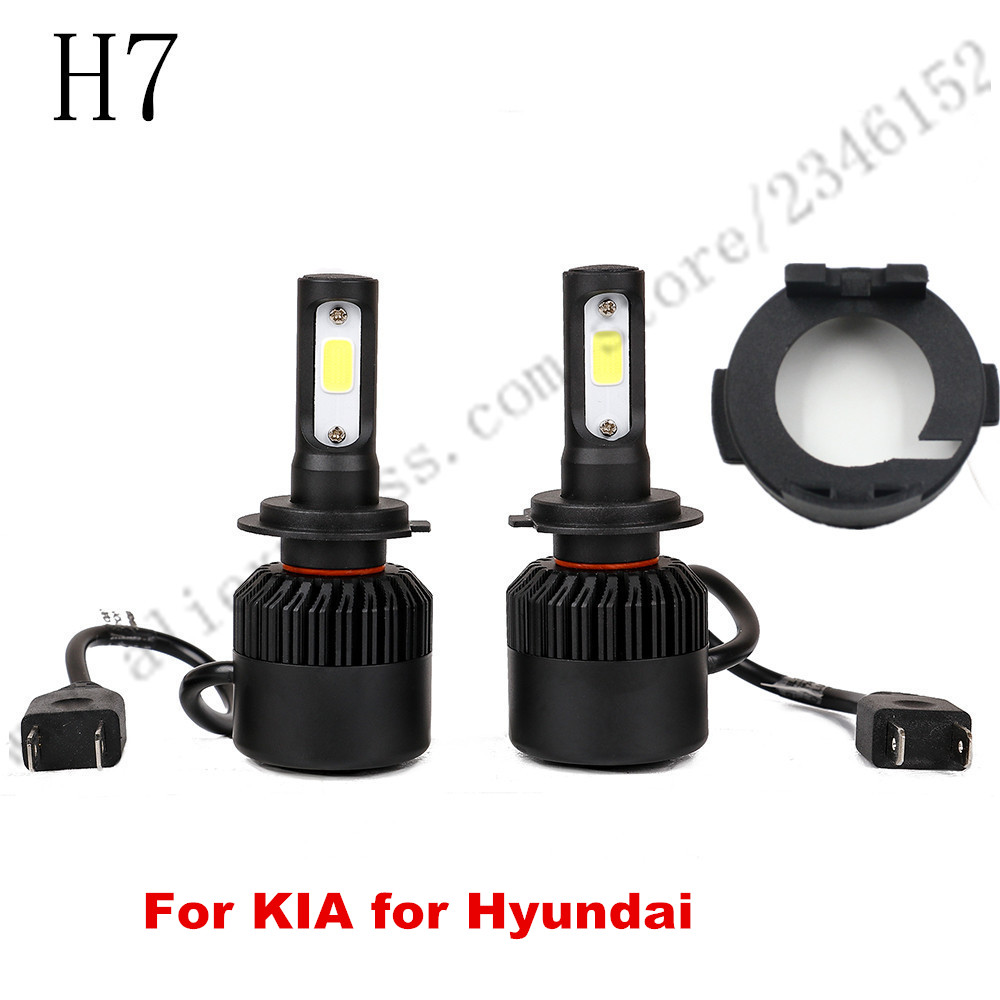 ФОТО H7 led headlight head lamp kit with adapter for For HYUNDAI Veloster