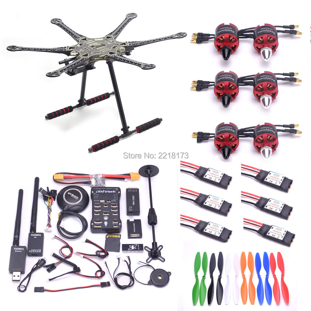 S550 PCB 550mm Multicopter Cadre Kit Naza M Lite/APM2.6/Pixhawk 2.4.8 32 Peu Contrôleur de Vol avec m8N GPS 2212 920kv 1045