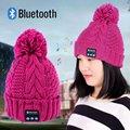 Casquillo Caliente de la Gorrita Tejida Sombrero Bluetooth Auricular de manos libres Elegante Altavoz Mic LH9s