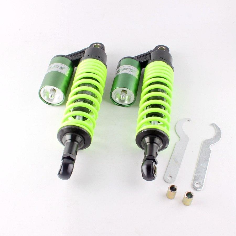 12,5 320 мм зеленый амортизаторы подвеска универсальный для Honda Yamaha Gokart Мопед, квадроцикл ATV двигатель запчасти
