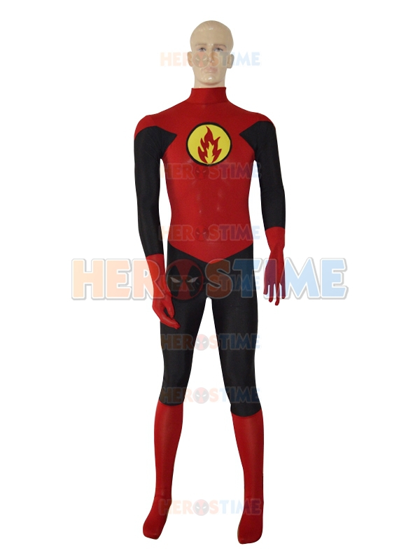 Red Lantern Design Superhero Costume Hot Sale Spandex Lycra Halloween Lantern Crops Costume Fullbody Zentai Suit free shipping