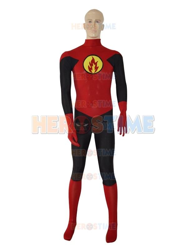 Red Lantern Design Superhero Costume Hot Sale Spandex Lycra Halloween Lantern Crops Costume Fullbody Zentai Suit free shipping