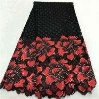 2018 New Design African Lace Fabric 2018 Wholesale France Swiss Voile Lace High Quality African Tulle Cord Lace Fabric