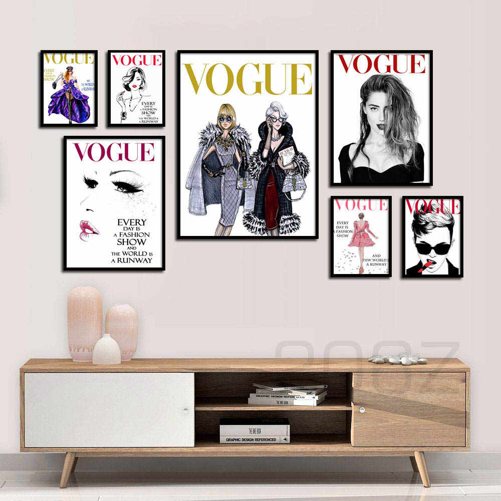 Vogue Девушка цитаты плакат стены Искусство Холст Живопись скандинавские плакаты и принты салон настенные картины для гостиной украшение дома