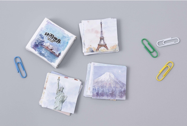 S73- Happy Travel Diy Decorative Sticker(1pack=45pieces)