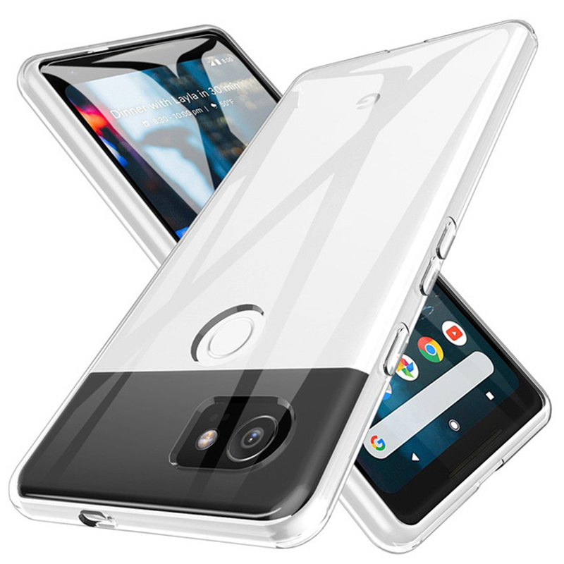 Shockproof Full Protection Phone Case For Google Pixel <font><b>2</b></font> <font><b>3</b></font> 3a 4 XL Crystal Soft Silicon Coque for Google Pixel XL <font><b>2</b></font> Pixel3 Cover image