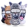 3D животное кошка собака уличная велосипедная спортивная Лыжная маска шляпа