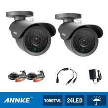 ANNKE 2pcs 1200TVL CCTV Security Cameras 42pcs LEDs indoor outdoor CCTV Surveillance Cameras