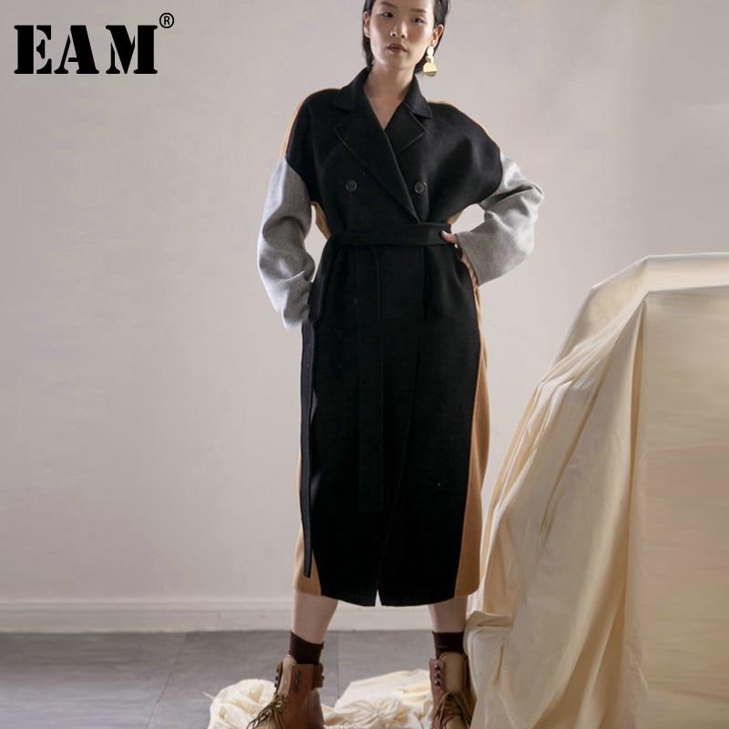 38bcd3d116d1 Jc3790 Hit Longue Mode Couleur 2019 Femmes Veste eam Grande Lâche Hiver  Longues Manteau Marée Jacket Noir ...