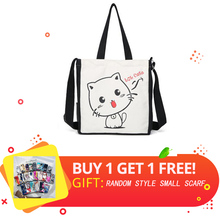 Women Shopping Bag Men Handbags Canvas Tote bags Reusable High-Quality Cotton grocery cotton bag High capacity fashion girls