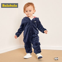 Balabala 2018 baby clothing Infant girls rompers bebes boys outwear pajamas zipper baby girls overalls pajamas jumpsuit romper f(China)