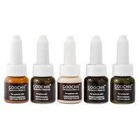 1 pc GOOCHIE Microblading pigment Permanent Makeup eyebrow Pigment 6color tattoo ink eyebrow pigment for tattoo machine ink