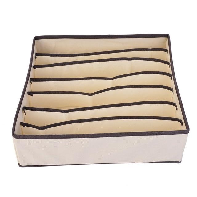 LASPERAL 4PCS Storage Boxes Underwear Divider Drawer Lidded Closet Organizer Ropa Interior Organizador For Ties Socks Shorts Bra