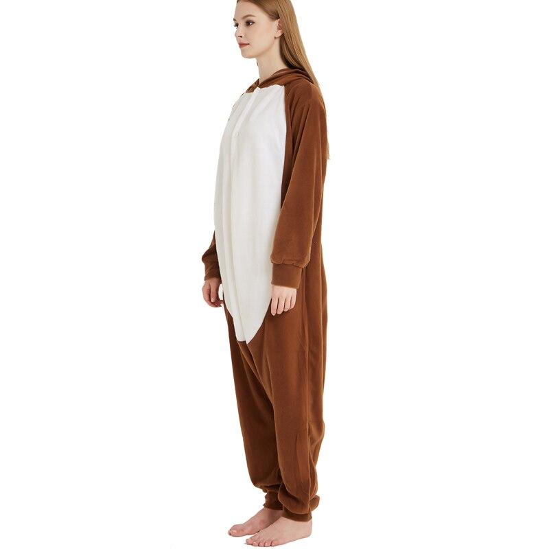 Unisex Adult Animal Squirrel Pajamas Cartoon Chipmunk Kigurumi Onesies Costumes Jumpsuits Christmas Gift