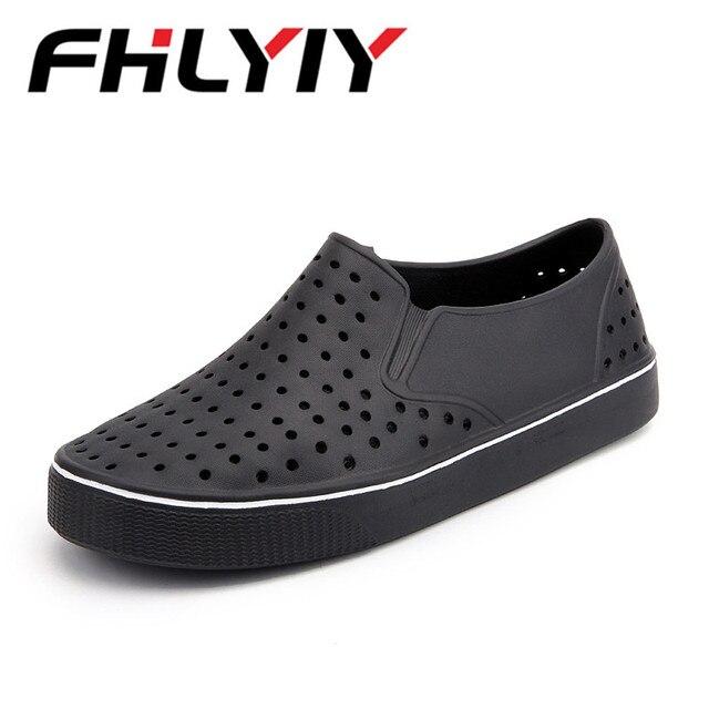 6903de81fc37c Unisex Sandals Plus Size 45 Summer Fashion Hollow out Breathable Beach Shoes  Man Sandals Casual Sandals Hole Shoes Flip Flops