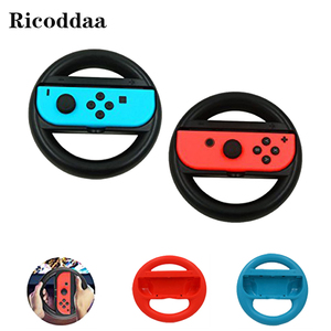 For Nintend Switch ABS Steering Wheel Handle Stand Holder Left Right Joy-Con Joycon For Nintend Switch NS NX Controller Wheels(China)