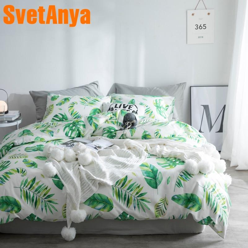 Svetanya Nodic Cotton Bedding Set Flat Or Fitted Sheet Bedlinen Single Double Queen King Size