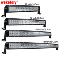 42 Inch 400W 4D Curved LED Work Light Bar For Tractor Boat OffRoad 4WD 4x4 Truck