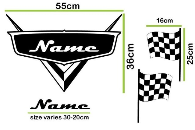 Cool custom made decals racing checked flag any custom name vinyl decor decoration wall