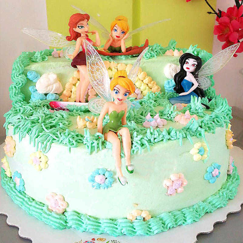 Wondrous Cute Princess Fairy Pvc Action Figures Princess Miss Bell Cake Funny Birthday Cards Online Elaedamsfinfo