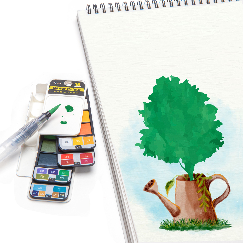 Nova qualidade conjunto de pintura cor água