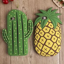 New 3D Cute Cartoon Fresh Pineapple Soft Silicone Phone Back Case Cover Skin For Apple iPhone 5 5S 5C SE 6 6S 6 Plus 6S Plus цена