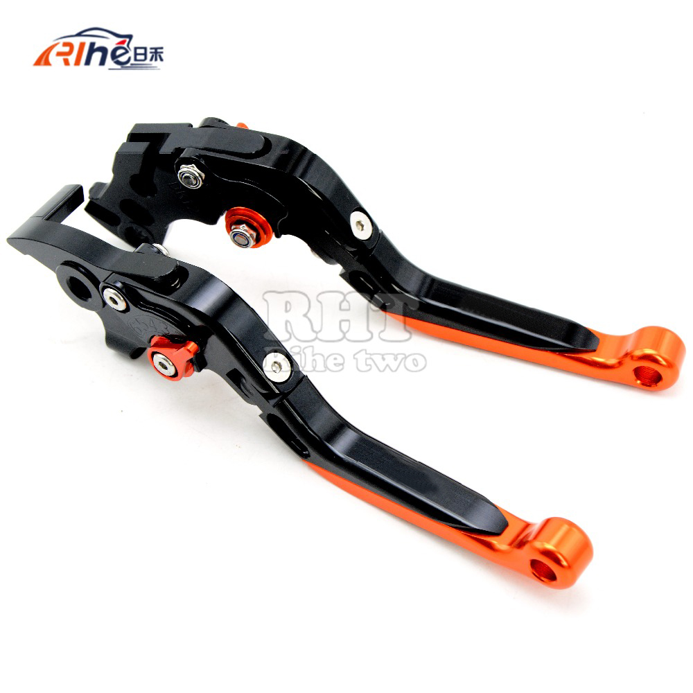 2017 Motorcycle Accessories extendable Brake Clutch Lever For KTM 990 Super Duke R 200 DUKE 390 DUKE RC390 RC200 RC125 125 Duke for ktm rc390 rc200 rc125 125 duke high quality motorcycle cnc foldable extending brake clutch levers folding extendable lever