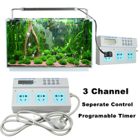 Professional 3 In 1 LCD Digital Socket Timer Fish Tank Device Automatic Time Control for Aquarium Light Heater Filter Water Pump