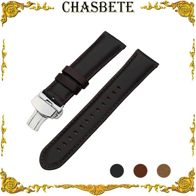 fe375792e80 22mm Leather Watch Band for AP Audemars Piguet Quick Release Strap Wrist  Loop Belt Bracelet Black