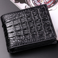 wallet Quality Business Affairs Quality Goods Doka Position Wallet Genuine/Real Crocodile Skin Leather Men Wallets short sizes