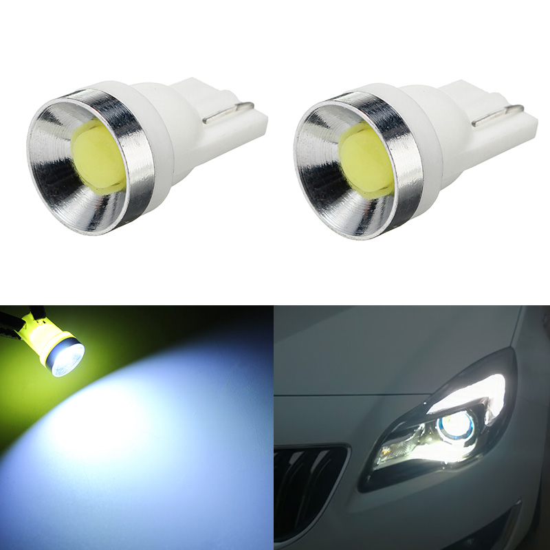 2pcs T10 194 168 W5W COB LED Super Bright White Auto Wedge Side License Plate Lights Lamp Bulb 6000K Car Light Sourse top quality new t10 7 5w w5w 5smd cob car led lamp signal light width license plate bulb feb13