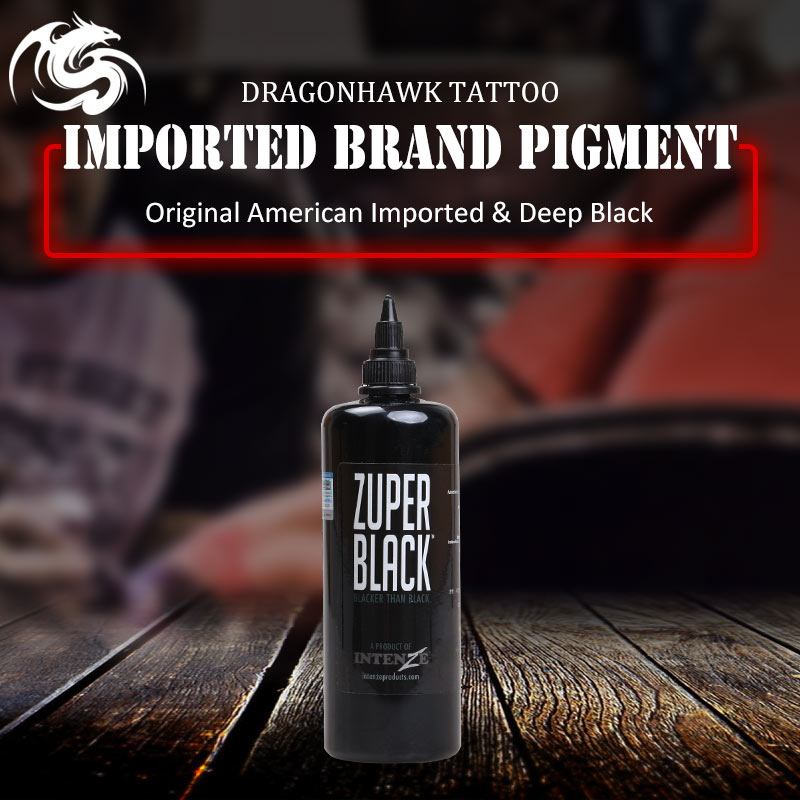 Black Permanent Tattoo Ink 12 oz new Premium Black Tattoo 360ml bottle black non-toxic professional tattoo ink cafe mystery 4