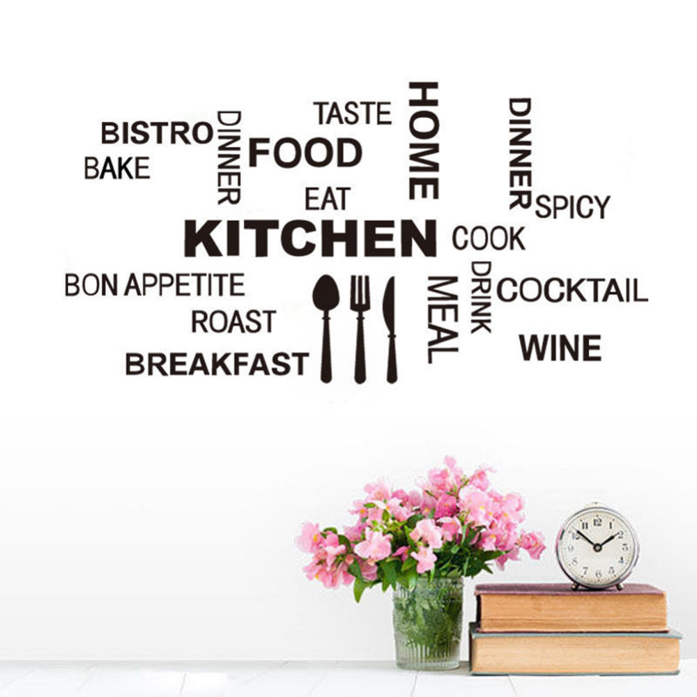 Kitchen Letters For Wall Fair Letters Kitchen Wall Stickers Words About Home Eating Kitchen Decorating Inspiration
