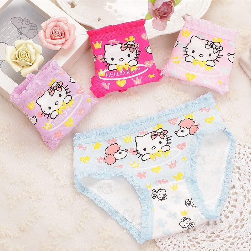 2-9Y Kids Girls Cartoon Underwear Pink Blue Shorts Cotton Children Short Pants For Kids Toddlers 1 PIECE
