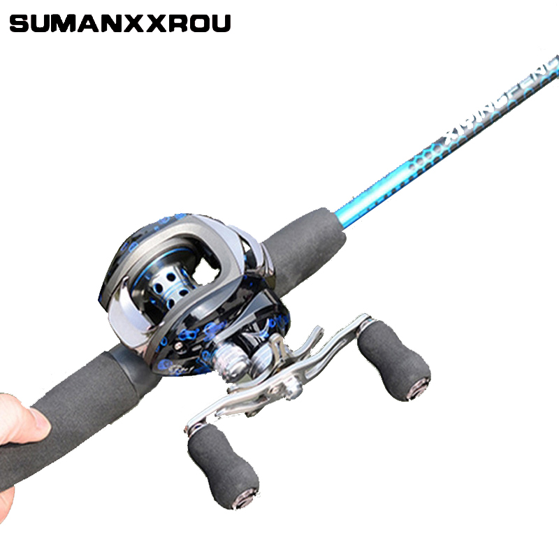 Royale Legend Right or Left Baitcasting Reel 13BBs 6.3:1 Bait Casting Fishing Reels Magnetic and Centrifugal Dual Brake Blue ZT2