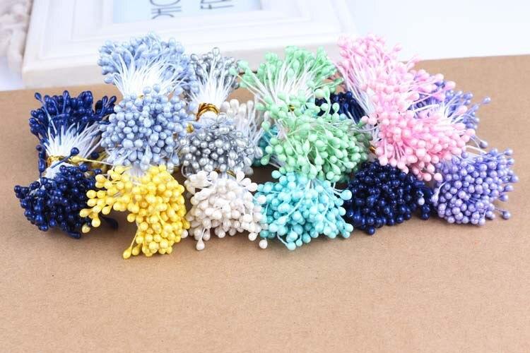 Multi Цвет 3 мм (500 шт./лот) жемчужина цветок тычинки цветочные тычинки для DIY торт/Свадебные украшения Искусственные цветы ремесло
