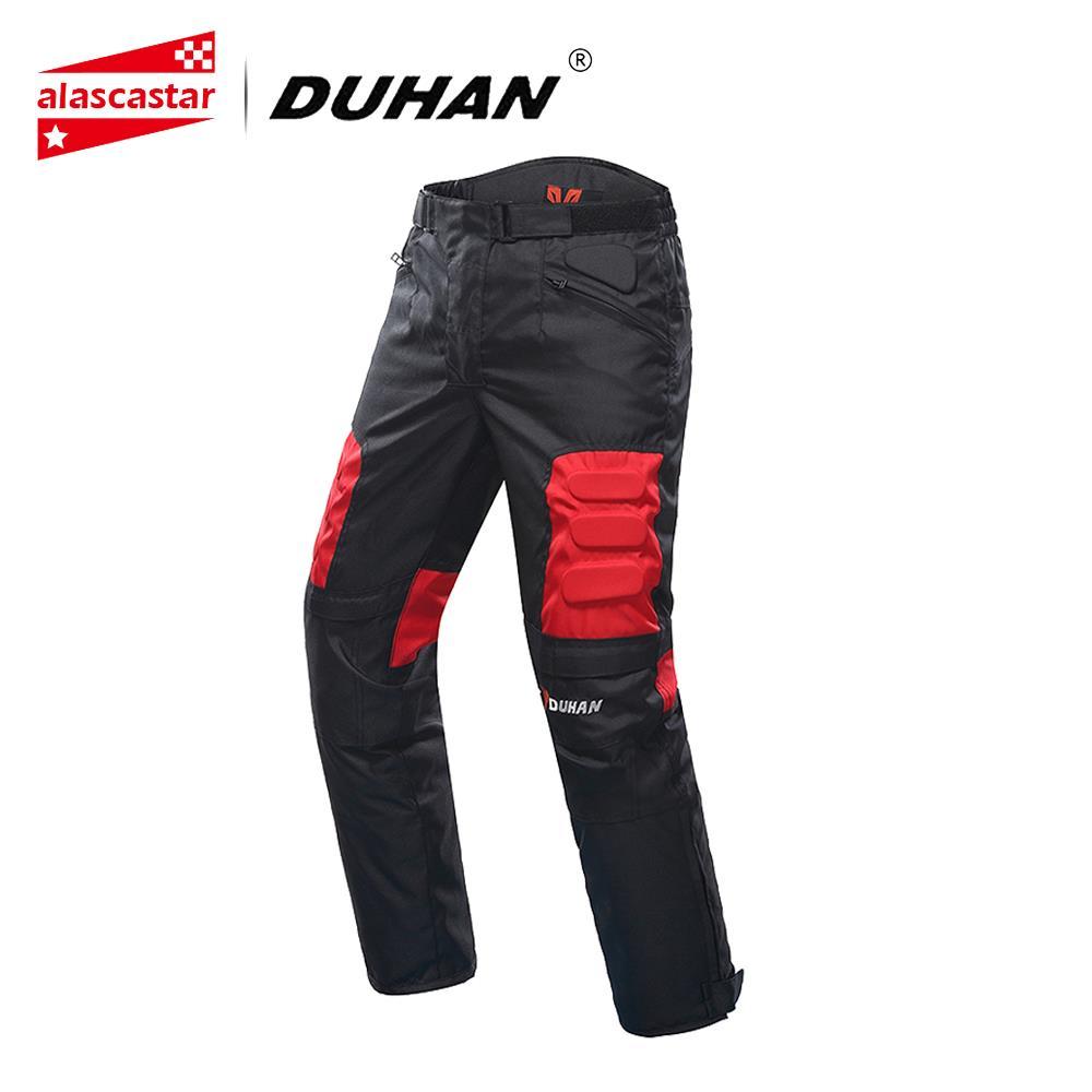 DUHAN Calças de Equitação Da Motocicleta Calças Calças de Corrida de Motocross Moto Motobike À Prova de Vento Calças Com Joelheiras Guardas DK-02 Pantalon