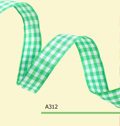 100yards roll 3 8 Inch 10mm Wholesale Green font b Tartan b font Plaid ribbon