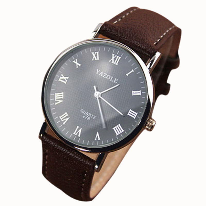 2016 Luxury Men's Watch Fashion Faux Leather Mens Quartz Analog Watch Casual Men Military Watch Watches Relogios masculinos